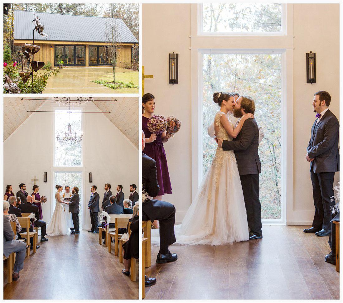 wedding ceremony in the chapel